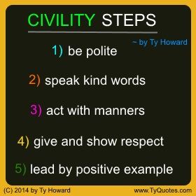 Ty Howard on Civility, Quotes for Civility, Quotes on Civility, Quotes for Teachers Educators Administrators