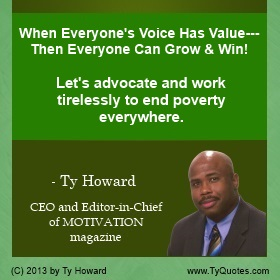 Ty Howard on Poverty, Quotes on Working with Children and Families in Poverty