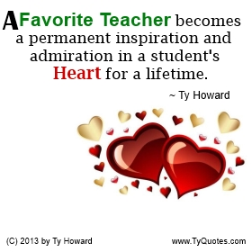 Ty Howard on Motivating Teachers, Motivated Teachers, Caring Teacher Quote