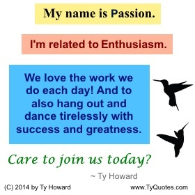 Ty Howard on Passion, Quotes on Passion