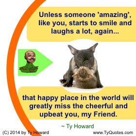 Ty Howard on Smiling, Quotes on Smiling, Smile Quotes, Quotes for Teachers Educators